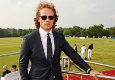 Sam Heughan attends day one of the Audi Polo Challenge at Coworth Park on May 28, 2016 in London, England. (Photo by David M. Benett)