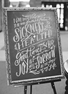 In Sickness and in health: http://www.stylemepretty.com/2015/01/30/naturally-elegant-midwestern-wedding/ | Photography: Brett Heidebrecht - http://brettheidebrecht.com/