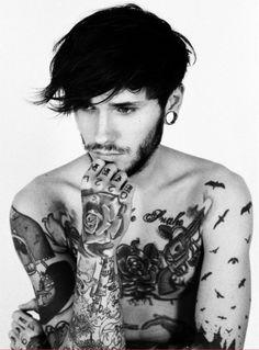 beard. tattoos.