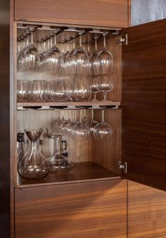 new kitchen cabinets wine glass storage cabinet wine glass storage drawer designs wine glass storage under cabinet Glass Kitchen Cabinet Doors, Refacing Kitchen Cabinets, Wine Cabinets, Inside Kitchen Cabinets, Kitchen Rack, Oak Cabinets, Home Decor Kitchen, Interior Design Kitchen, Kitchen Furniture