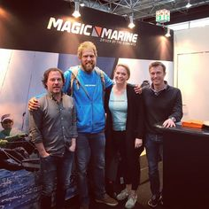 Today Mark Slats visited our booth. Still recovering from his world record in Rowing over the Atlantic hes preparing for his next adventure: Participating in the Golden Globe Sail Race around the World held once all 50 years! #drivenbytheelements #magicmarine #sailingislife #adventure #chalenge #blueocean
