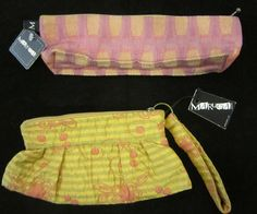 Maruca wristlets and pouches.