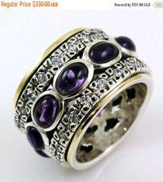 On Sale Spinner ring , cubic zirconia rings , spinning rings , blue topaz rings , amethyst rings, garnets rings , opals rings, hippie rings