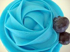 Cupcakes de chocolate y arándanos ( Blueberry chocolate) - Dulcinenca