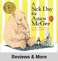 "A Sick Day for Amos McGee, by Philip Christian Stead. - ""The zookeeper takes care of all the zoo animals when they get sick, but who takes care of the zookeeper when he gets sick? Don't wait until your next sick day to read this 2011 Caldecott Medal winner and find out!"""