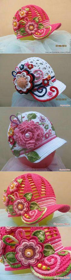 Beautiful little crochet caps  Beautiful little crochet caps
