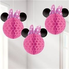 Decorations: Minnie Mouse Honeycomb Hanging Decorations