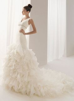 I like strapless wedding gowns best, but still gorgeous.