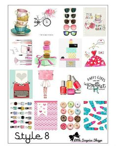 These trendy stickers are great for decoration the daily boxes for Erin Condren Planner.: