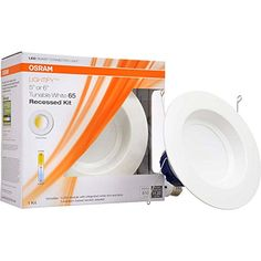 SYLVANIA SMART RT 56 Tunable White LED Recessed Lighting Kit Equivalent Adjustable White 73742 Formerly LIGHTIFY * Visit the image link more details. (This is an affiliate link and I receive a commission for the sales) Kitchen Recessed Lighting, White Light Bulbs, Simple App, Smart Home Technology, Wall Outlets, Works With Alexa, Home Automation, Packaging Design, Product Packaging