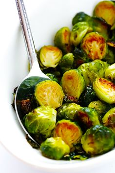The BEST Roasted Brussels Sprouts Gimme Some Oven. Roasted Brussel Sprouts With Bacon Apples Gluten Free . Brussel Sprout Appetizer Recipe, Best Brussel Sprout Recipe, Baked Brussel Sprouts, Brussels Sprouts, Roasted Sprouts, Bacon Recipes, Veggie Recipes, Vegetarian Recipes, Healthy Recipes