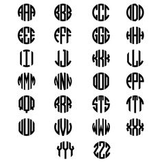 monogram alphabet circle - Google Search
