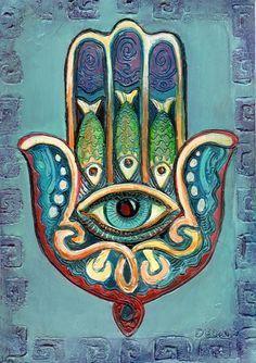 """Hand mit Auge (Khamsa)  Das Auge soll apotropäisch vor dem """"bösen Blick"""" schützen."""