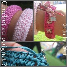 crochet braceletd