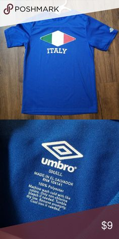 Boys Umbro Italy Soccer Shirt New without tags. Size small 788cee502
