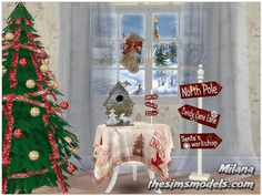 The Sims Models: Merry Christmas! Set by Milana • Sims 4 Downloads