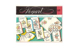 Vintage Vogart  Embroidery Transfer Pattern 649 by EclecticEmbrace