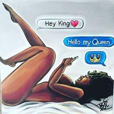 Giggles I love this painting everything about it is perfect ❤️ ladies be patient your king or queen will arrive ☝️