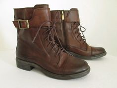 Vince Camuto Taryn Leather Military Combat Style Ankle Boot, Size 7, Brown   Clothing, Shoes & Accessories, Women's Shoes, Boots   eBay!