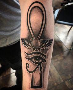 100 Eye of Horus Tattoos – tattoo sleeve men Egyptian Symbol Tattoo, Egyptian Eye Tattoos, Egyptian Tattoo Sleeve, Arm Sleeve Tattoos, Tattoo Sleeve Designs, Forearm Tattoos, Body Art Tattoos, Ahnk Tattoo, Eye Of Ra Tattoo