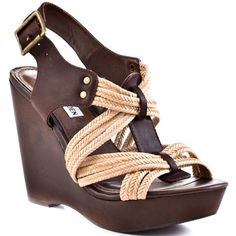 High Heels I Love.....Steve Madden  				  				Tampaa - Brown Multi