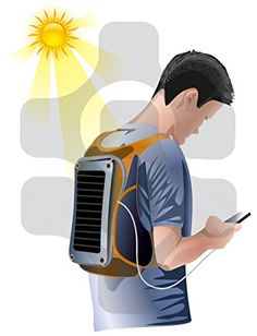 The Powerfly Solar Powered Backpack with 10000mAh Power Bank, 7W Solar Panel & 2L Hydration Pack - Perfect For: Camping, Hiking, and of Course Pokemon GO! Portable Travel Sun Charger Kit for Smart Cell Phones and Tablets- www.Pokemon-Go-Merch.com