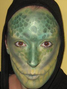 Halloween Makeup | Reptile