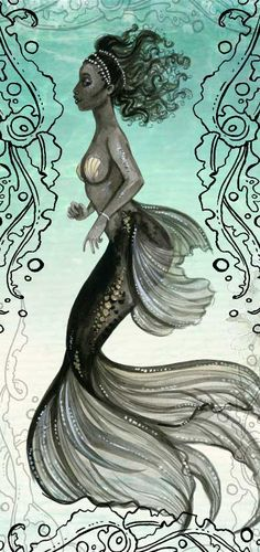 black mermaid / charlotte thomson-morley | Beautiful Cases For Girls