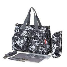 Black and White Diaper Bag