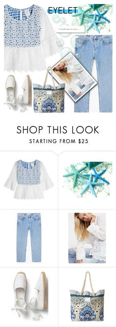 """Peek-A-Boo: Eyelet"" by nicolevalents ❤ liked on Polyvore featuring Anna Sui, MANGO, Free People and Billabong"