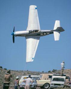 "racingplanes: "" Reno Air Races (September 16, 1983) Unlimited Class P-51D, ""Tipsy Too"", #28 Credits: Brian M. Silcox """