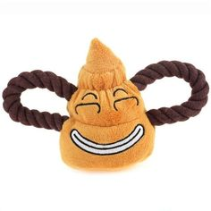 Dog Puppy Chew Toys Play Squeak Toys Braided Plush Cute Poo Shaped