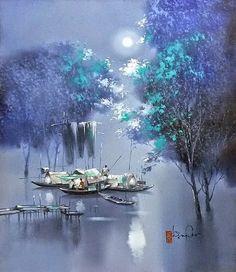 Landscape Painter Dang Van Can (born 957), Vietnam