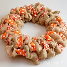 This is great! Easy step-by-step tutorial teaches how to make a burlap wreath…