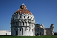 The Piazza dei Miracoli, formally known as Piazza del Duomo, is a wide walled area located in Pisa, Tuscany, Italy, recognized as an important center of European medieval art and one of the finest architectural complexes in the world.