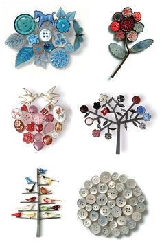 Savoring these collage #brooches of found objects created by #Edinburgh based artist, #Grainne-Morton.