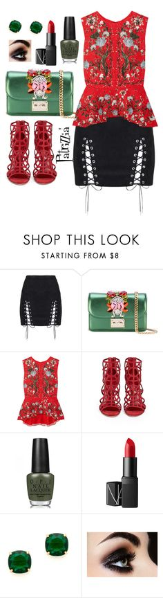 """""""Patrizzia26.06.2017a"""" by patrizzia on Polyvore featuring GEDEBE, Erdem, Sergio Rossi, OPI, NARS Cosmetics, Kate Spade and patrizziapolyvore"""
