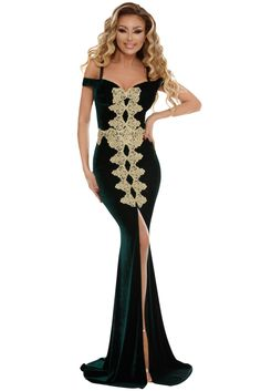 563b4a3c49c Cheap Jasper Embroidered Applique Front Slit Mermaid Evening Dress only US   12.88