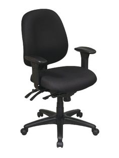 Office Star Mid Back Multi Function Chair with Seat Slider Ratchet Back Height Adjustment and Adjustable PU Padded Arms * You can find out more details at the link of the image.Note:It is affiliate link to Amazon.