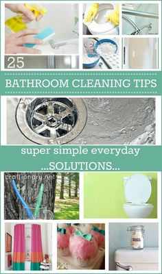 Easy and simple everyday bathroom cleaning tips and tricks. Solutions to clean bathroom without chemicals and removing rust, stains, grout and stinky smell.