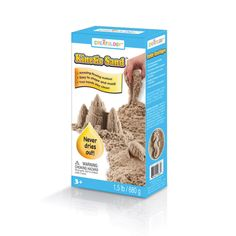 Creatology Kinetic Sand -  Pack it, pull it, shape it and love it, Kinetic Sand is so incredible you can't put it down. It's kinetic—meaning it sticks to itself and not to you—so it oozes, moves and melts right before your eyes. It flows through your fingers like a slow-moving liquid, but leaves your hands completely dry. Shape anything you want and use it over and over again. Never dries out. This soft and stretchy sand cleans up easily while delivering non-stop fun!