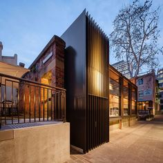 An old police station in Sydney, Australia, has been turned into a cafe by Welsh and Major