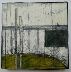 At the end of last week I took delivery of some box frames and I am ridiculously pleased with how they set off my collages. Although I am usually reluctant to put textiles behind glass as I feel th… Art Textile, Textile Artists, Texture Drawing, Creative Textiles, Collage Art, Collages, Collage Ideas, Meet The Artist, Installation Art