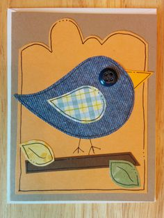 Bluebird of Happiness and yellow green & red bird by Cindysnoopy, $12.00