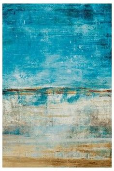 Turquoise - Abstract Art - 'The Beach' #art #painting