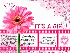 Flower Baby Shower Invitation / Print At Home / As by FoundItCards, $10.00