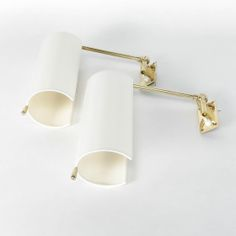 A pair of Alfred Müller sconces for AMBA in the New lampshades made of a white cotton fabric, rewired. Very lovely details in brass. Sconces, Wall Lights, Lighting, Home Decor, Art, Art Background, Chandeliers, Appliques, Decoration Home
