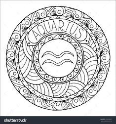 Zodiac Sign of Aquarius : Shutterstock 350998847