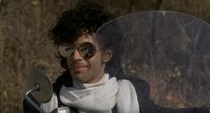"""A rare piece of movie memorabilia from Prince's 1984 classic film Purple Rain is hitting the auction block.  Prince donned the black-and-white blazer with leather sleeves while riding a motorcycle with co-star Apollonia Kotero.  """"It's definitely the most important piece of screen-worn Prince clothing"""