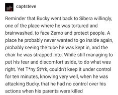 If we're talking quality of character, I'll take Bucky over Tony any day. Human weakness is understandable, but facing terrible fear deserves all the respect.